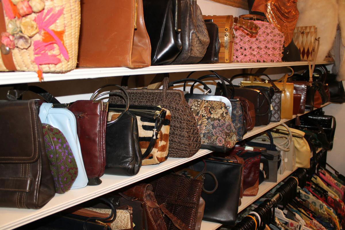 bags on shelf